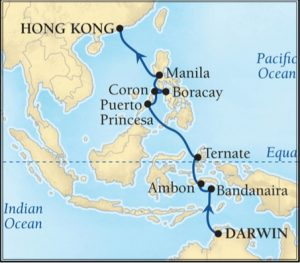 Spice Islands itinerary map